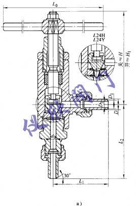 为单导向结构,只有正装式;阀杆螺母与支架螺纹连接
