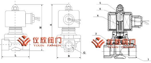 zcw微型电磁阀安装尺寸图图片