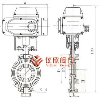 D973电动对夹蝶阀