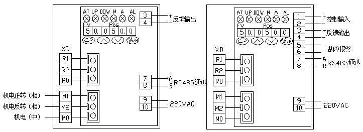 电动单座调节阀接线图