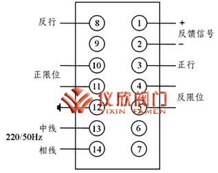 dkj系列电动执行器外部接线图图片